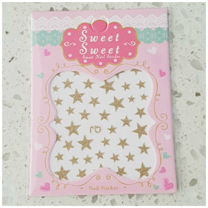 Glitter Star Nail Art Stickers - Glitz It