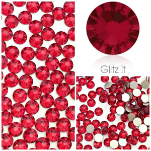Swarovski Siam (Red) Crystals Glue On Flatbacks - Glitz It