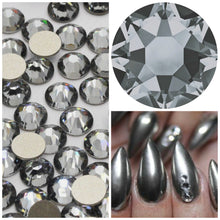 Swarovski Silver Night Crystals Mixed Size Glue On Flatbacks Small to Medium - Glitz It