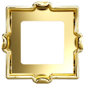 Swarovski® Xilion Square Fancy Stone Setting: Article 4428/S Gold Plated - Glitz It