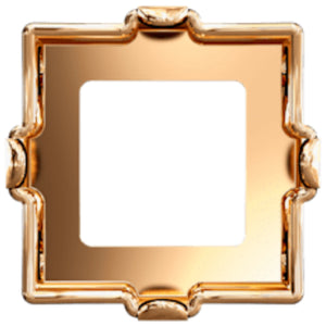 Swarovski® Xilion Square Fancy Stone Setting: Article 4428/S Raw Unplated - Glitz It