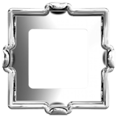 Swarovski® Xilion Square Fancy Stone Setting: Article 4428/S Rhodium - Glitz It