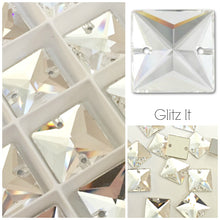 Swarovski® Sew On Crystals: Square 3240 Clear - Glitz It