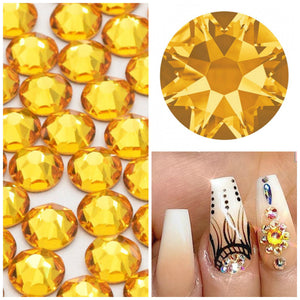 Swarovski Sunflower Yellow Crystals Mixed Size Glue On Flatbacks Small to Medium - Glitz It