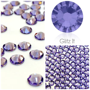 Swarovski Tanzanite Crystals Glue On Flatbacks - Glitz It
