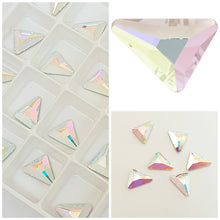 Swarovski 2739 Triangle Beta 5.8mm Crystals Glue On Flatbacks - Glitz It