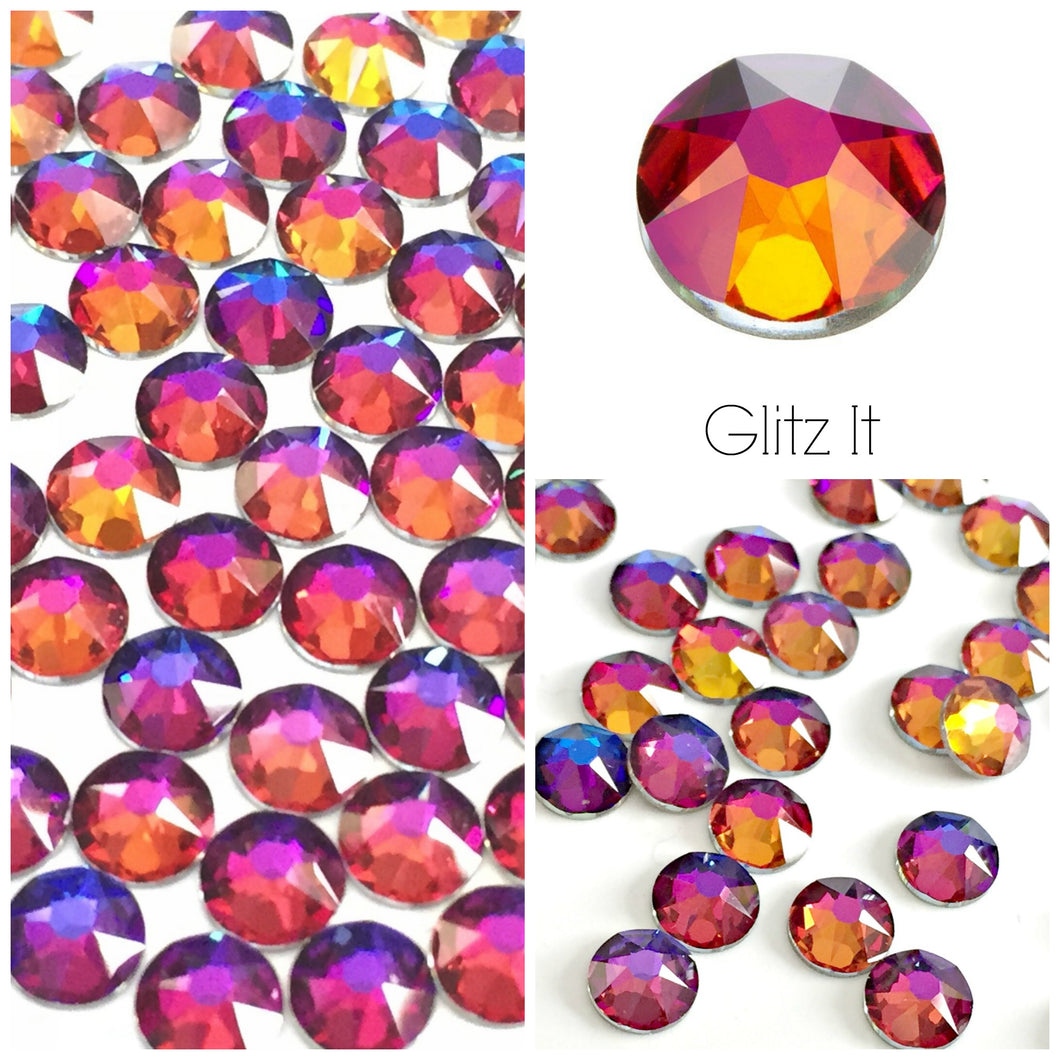 Swarovski® 2058 Small Pack Glue On Crystals: SS5 VOLCANO - Glitz It