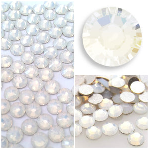 Swarovski White Opal Crystals Glue On Flatbacks - Glitz It