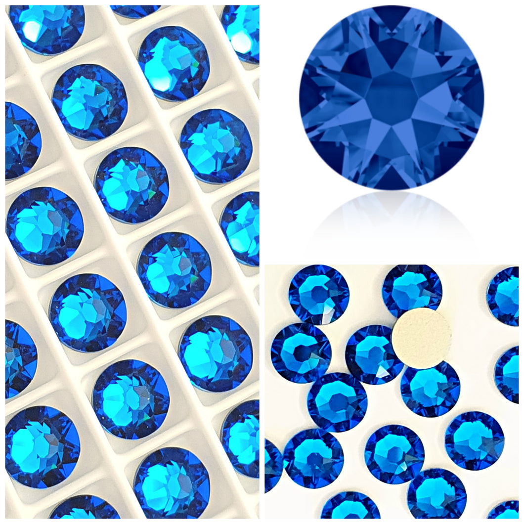 Swarovski® 2058 Small Pack Glue On Crystals: SS5 CAPRI BLUE - Glitz It