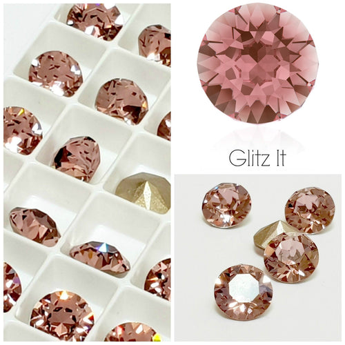 Swarovski Antique Pink Chaton Crystals - Glitz It