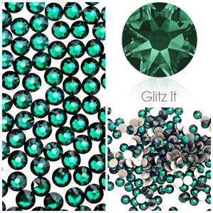 Swarovski Emerald Crystals Glue On Flatbacks - Glitz It
