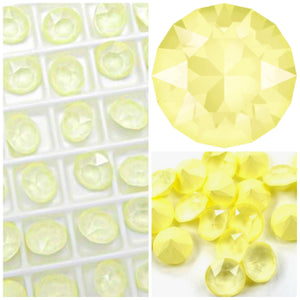 Swarovski Powder Yellow Chaton Crystals - Glitz It