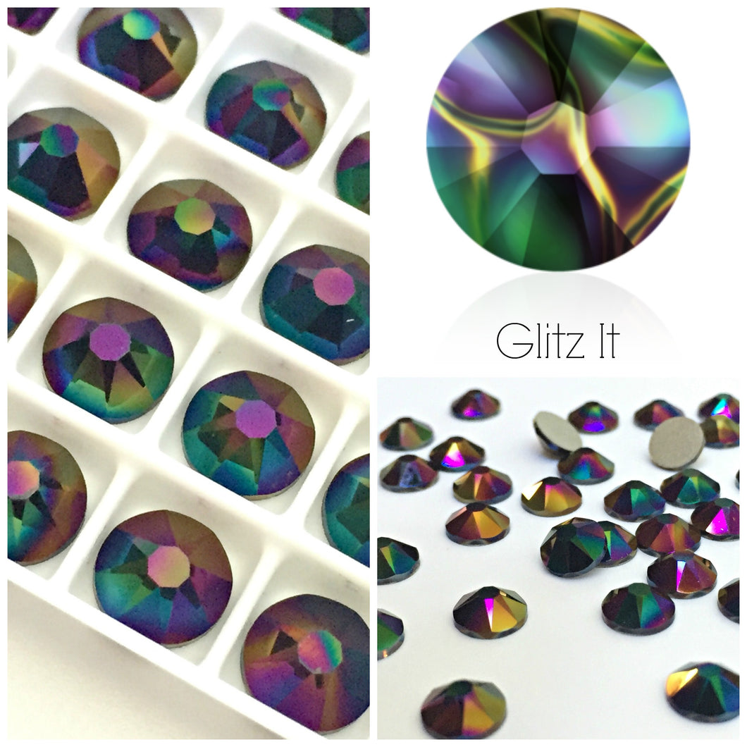 Swarovski® 2058 Small Pack Glue On Crystals: SS5 RAINBOW DARK - Glitz It