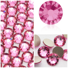 Swarovski Rose Pink Crystals Mixed Size Glue On Flatbacks Small to Medium - Glitz It