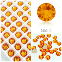 Swarovski® 2058 Small Pack Glue On Crystals: SS5 TANGERINE - Glitz It