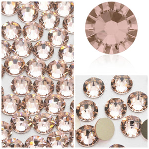 Swarovski Vintage Rose Crystals Mixed Size Glue On Flatbacks Small to Medium - Glitz It