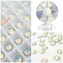 Swarovski Hotfix Flatbacks: White Opal - Glitz It