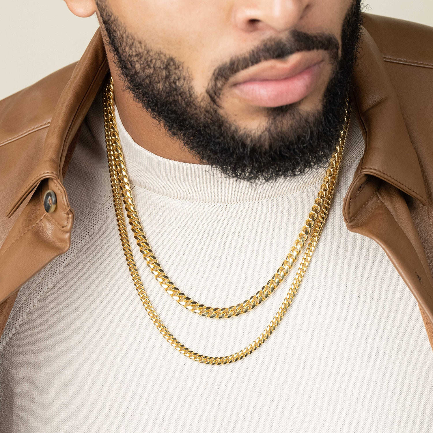 Cuban Link Chain Stack - 7mm + 5mmImage