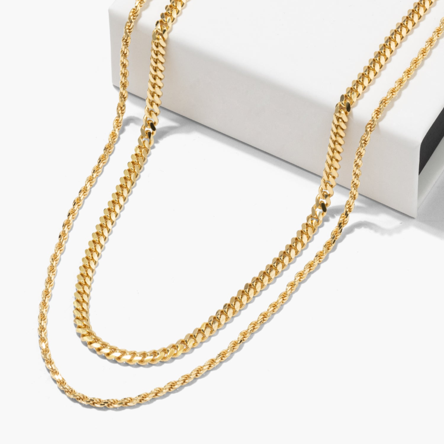 Cuban Link + Rope Chain StackImage 2