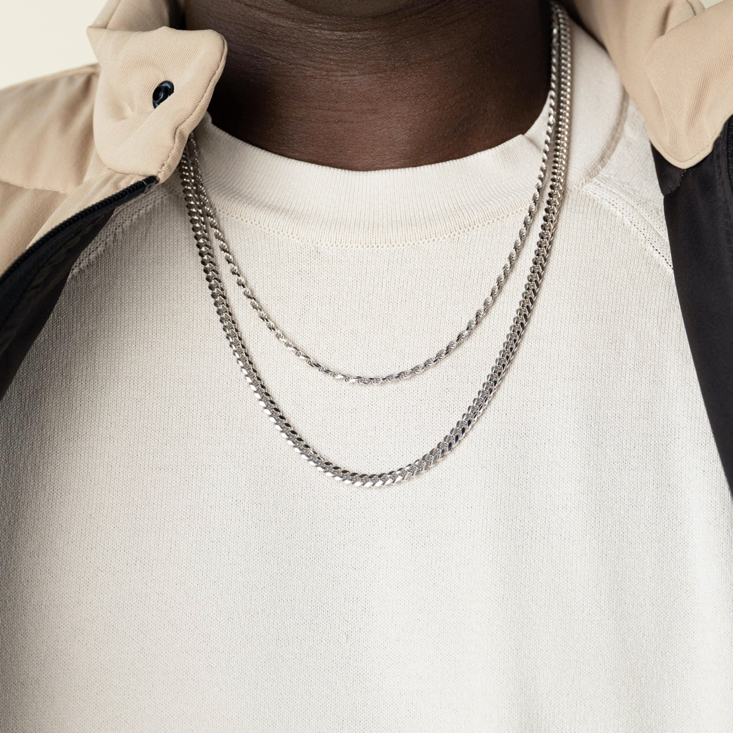 Rope + Cuban Link Chain StackImage