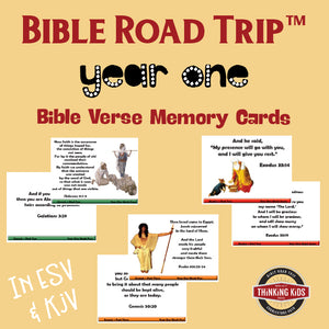 Bible Road Trip Year One Bible Memory Verse Card Sets Thinking