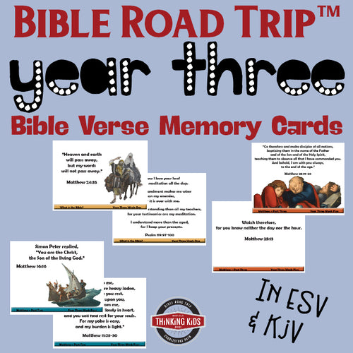 Bible Road Trip™ Year Three Bible Memory Verse Card Sets