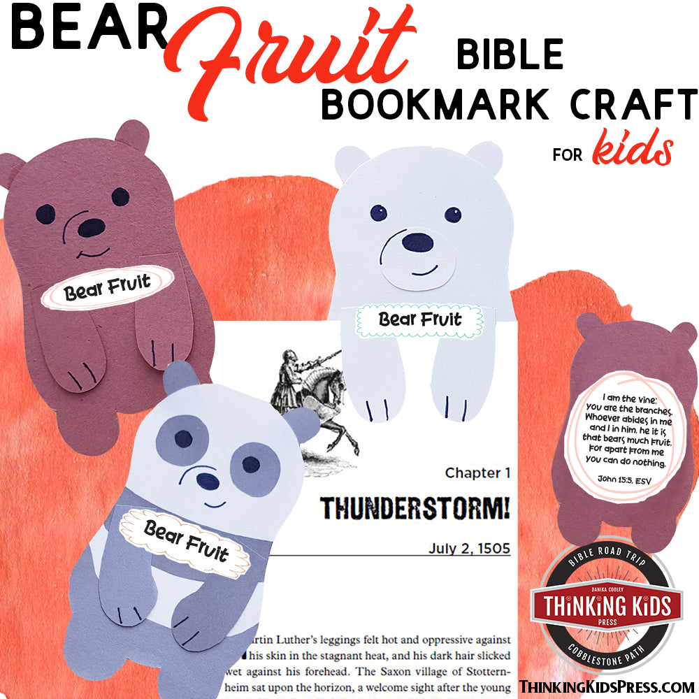 Bear Fruit Bible Bookmark Craft