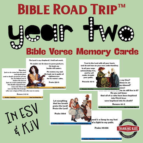 Bible Road Trip™ Year Two Bible Memory Verse Card Sets
