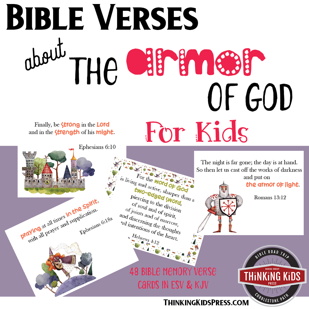 Bible Verses about the Armor of God: Bible Memory Verse Cards