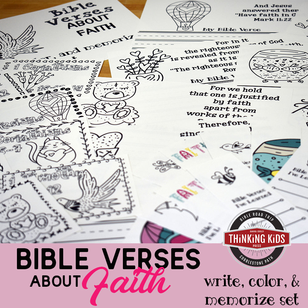 Bible Verses about Faith: Write, Color, and Memorize Set