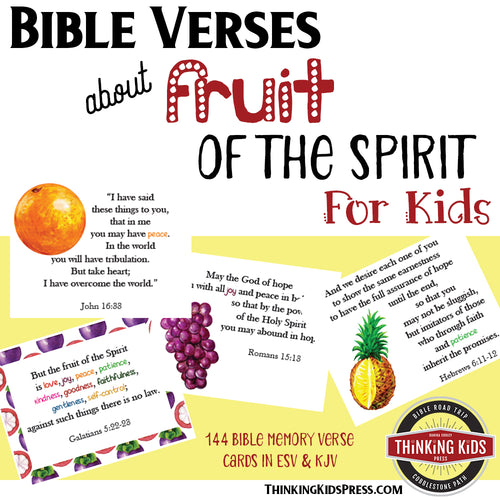 Bible Verses about Fruit of the Spirit: Bible Memory Verse Cards