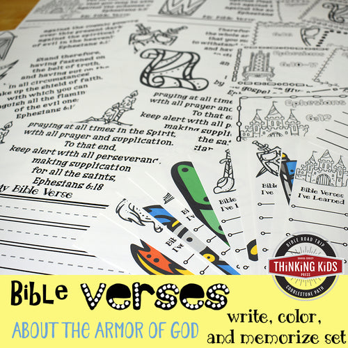 Bible Verses about the Armor of God for Kids: Write, Color, and Memorize