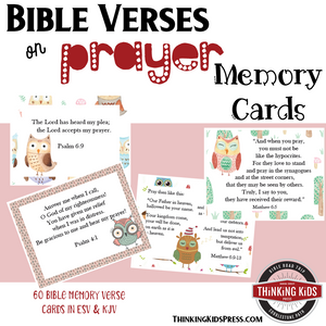 prayer bible memory verse card sets thinking kids press