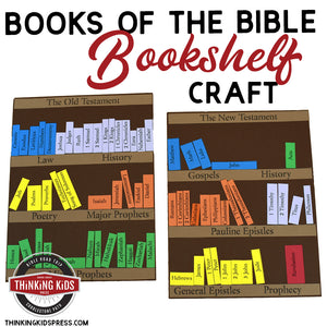 Books of the Bible Bookshelf Craft