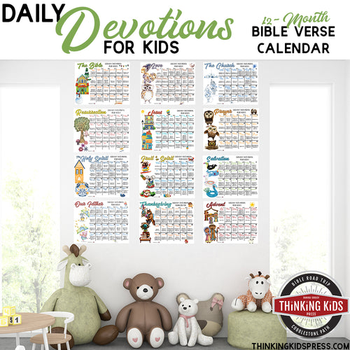 Daily Devotional Bible Verse Calendar for Kids
