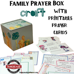 Family Prayer Box Craft with 6 Sets of Prayer Cards for Kids
