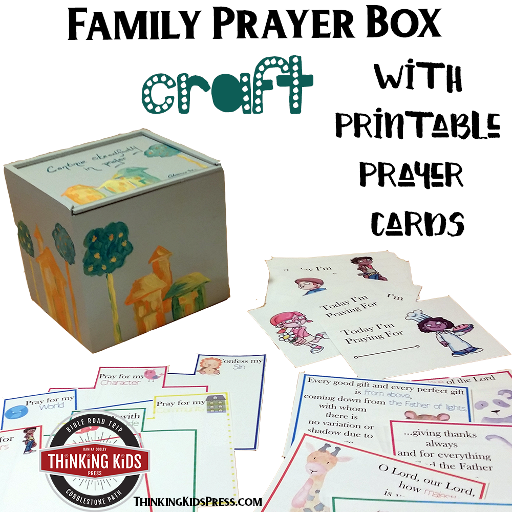 photograph about Prayer Printable named Loved ones Prayer Box Craft with 6 Sets of Prayer Playing cards for Little ones