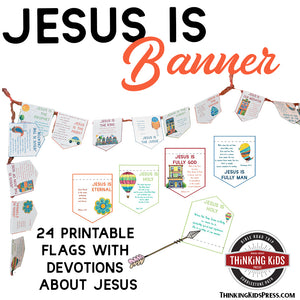 'Jesus Is' Banner with Daily Devotions for Kids