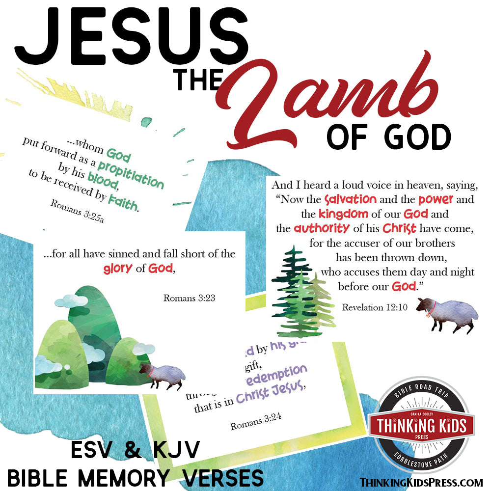 Jesus, the Lamb of God | Bible Memory Verse Card Set