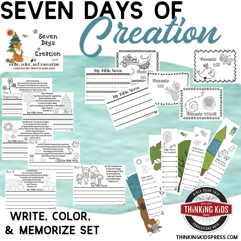 Days of Creation Write, Color, and Memorize Set