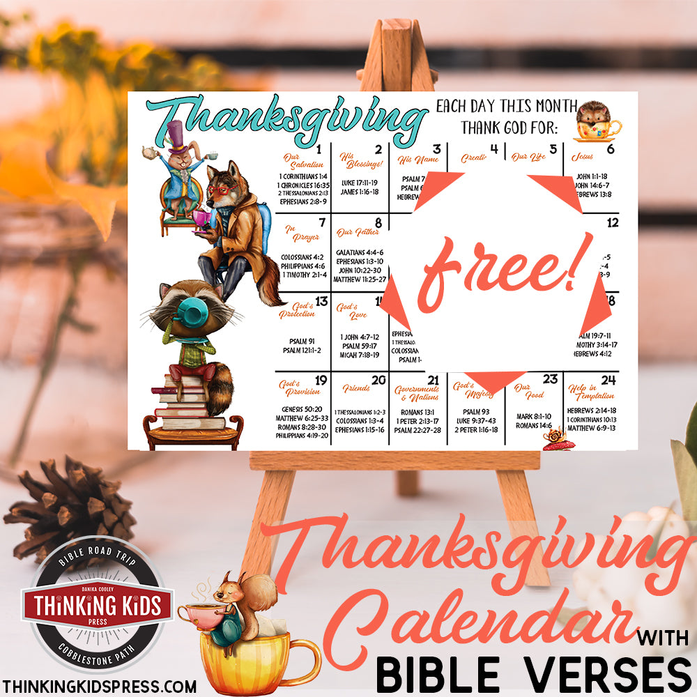 Thanksgiving Bible Verses Calendar