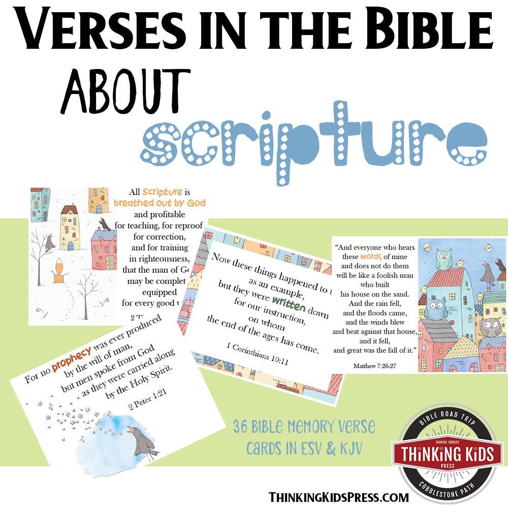 Verses in the Bible about Scripture: Memory Cards