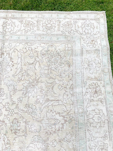 Vintage Distressed Tabriz, 7x11