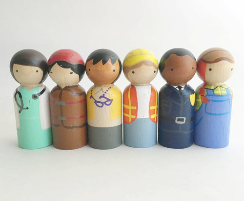 Community Helper Peg Doll Set