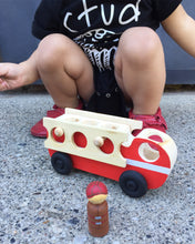 Wooden Fire Truck with Peg Dolls