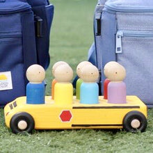 Wooden School Bus with Large Peg Dolls