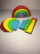 Mini Rainbow Stacker with accessories