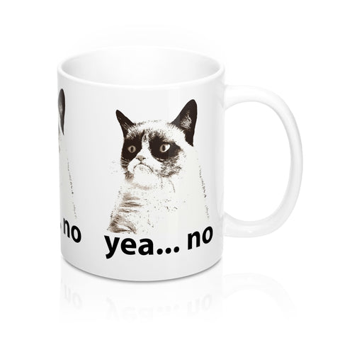 """YEA NO-Grumpy Cat"" Mug 11oz  ""Free Shipping USA"""