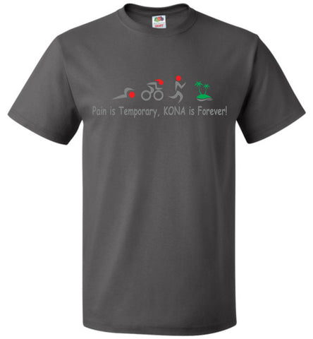 "Men's Triathlon ""Kona is Forever""  Crew Neck T-Shirt  ""Free Shipping USA"""