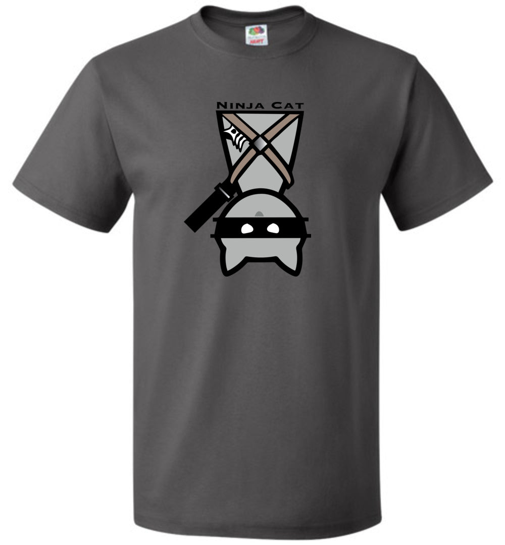 """Ninja Cat""  Crew Neck T-Shirt ""Free Shipping USA"""